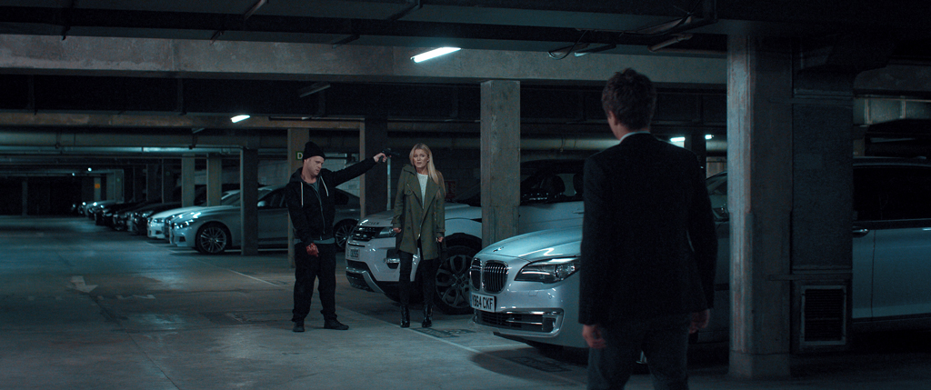Johnny Sachon, Lily Travers, Joe Sowerbutts in garage